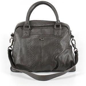 Grey snakeskin purse